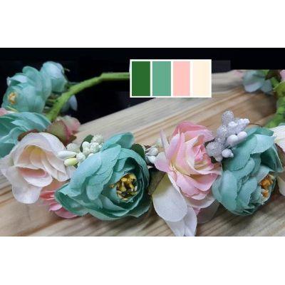 Венок для девочки розы Мята и Ваниль ТМ Sonechko