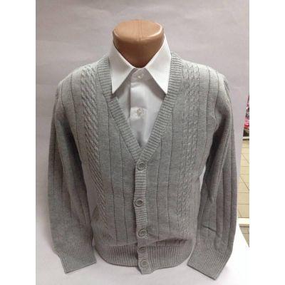 Джемпер для мальчика серый 70155