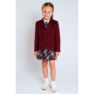 Жакет для девочки школьный бордо