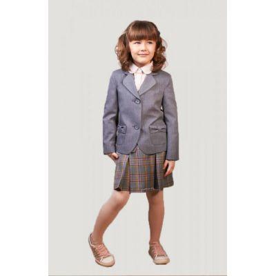 Жакет школьный для девочки серый Д-ШФ-7-1646