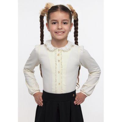 Блуза трикотажная для девочки ТМ Смил 114515/114516 молочный