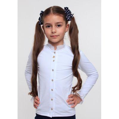Блуза трикотажная для девочки ТМ Смил 114494/114495 белый