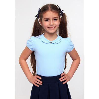 Блуза трикотажная для девочки ТМ Смил 114520/114521 голубой
