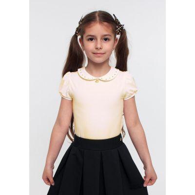 Блуза трикотажная для девочки 114521 молочная