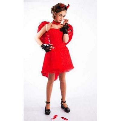 Нарядное платье для девочки Лолита Готическая Косплей (красный гипюр), Огненный Ангел