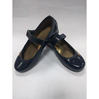Туфли школьные кожанные для девочки 152 Seboni синие
