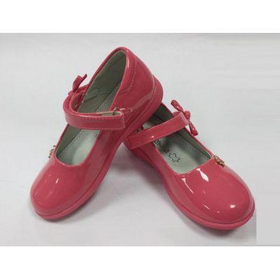 Туфли нарядные для девочки 309 коралл