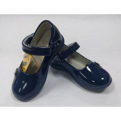 Туфли школьные для девочки 389 т.синий