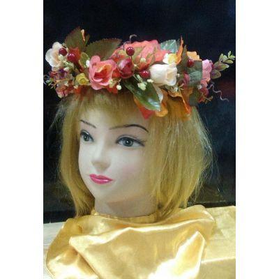Карнавальный костюм Венок Осень, Осенние розы #6