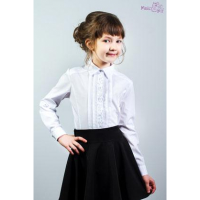 Блуза школьная для девочки 140 ТМ Малена