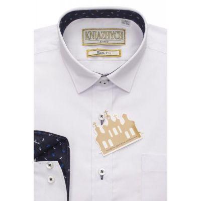 Рубашка школьная для мальчика белая с отделкой РТ2000/К506sl