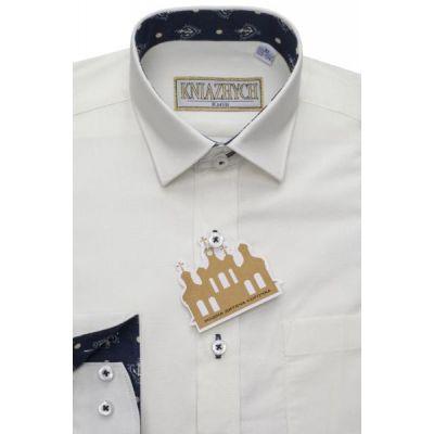 Рубашка школьная для мальчика молоко WhisperK580sl Княжич