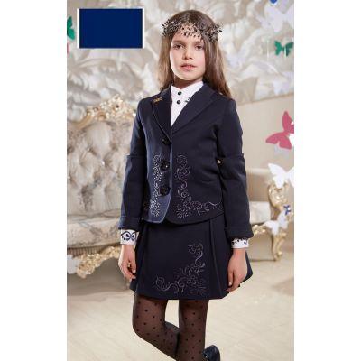 Юбка школьная Розмари Suzie синий с вышивкой