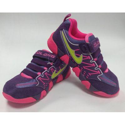 Кроссовки для девочки 8709-2 фиолетовые ТМ Zolong