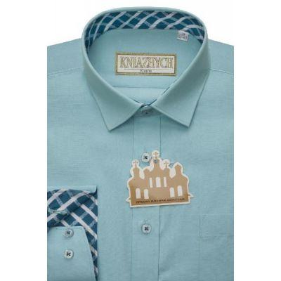 Рубашка школьная для мальчика бирюза Aquarius/К542 Княжич