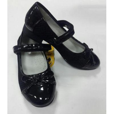 Туфли школьные для девочки 621 черный Clibee