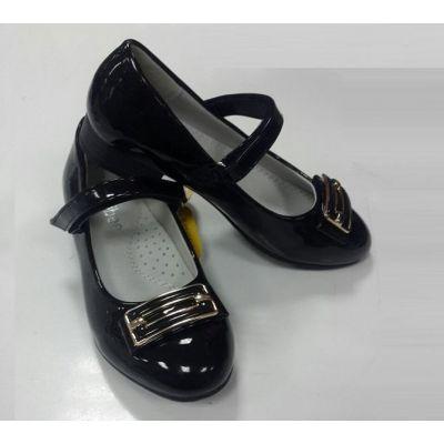 Туфли школьные для девочки 396 черный Clibee
