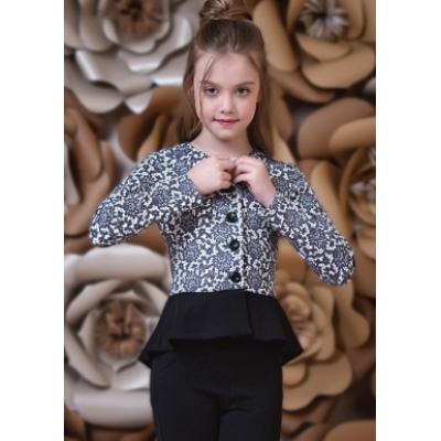 Жакет трикотажный для девочки 9011-1 ТМ Зиронька