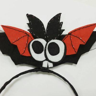 Карнавальный костюм - обруч на Хеллоуин Летучая Мышь