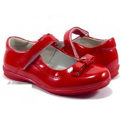 Туфли для девочки красные 611