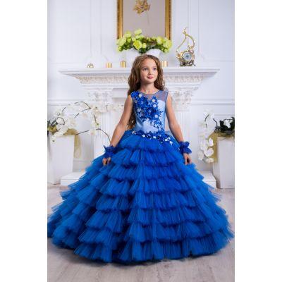 Нарядное бальное платье для девочки 9788