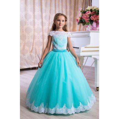Нарядное бальное платье для девочки 9786
