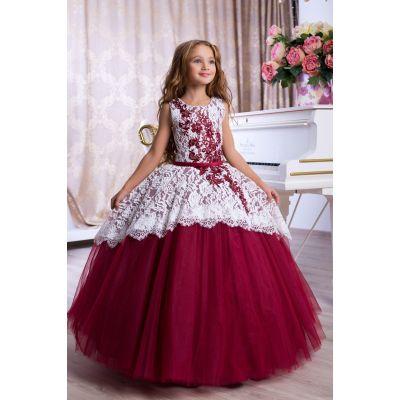 Нарядное бальное платье для девочки 9781
