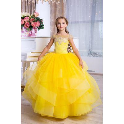 Нарядное бальное платье для девочки 9777