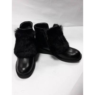 Ботинки для девочки черные зима  PdP850095