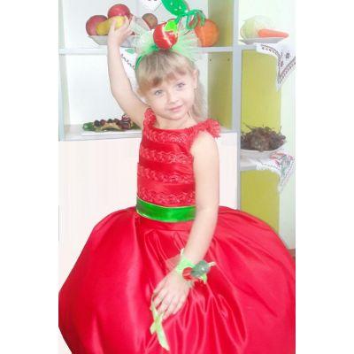 Карнавальный костюм для девочки Вишня - Вишенка
