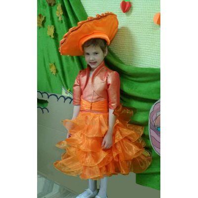 Карнавальный костюм для девочки Гриб Лисичка