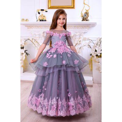 Нарядное бальное платье для девочки 10720