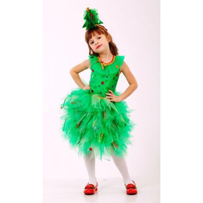 Карнавальный костюм для девочки Елочка Елка новогодняя