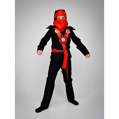 Карнавальный костюм Ниндзя красный №5
