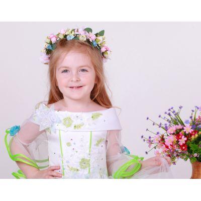 Венок для девочки, веночек Цветы - весна №7 Необыкновенная нежность