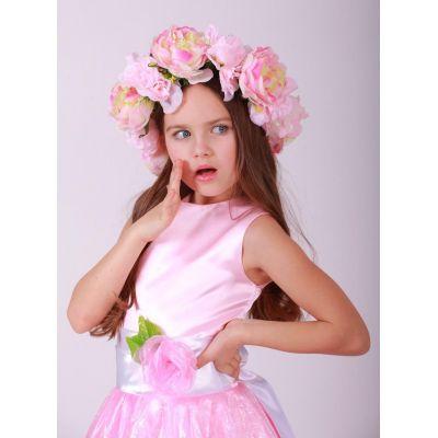 Венок для девочки Пышные розы