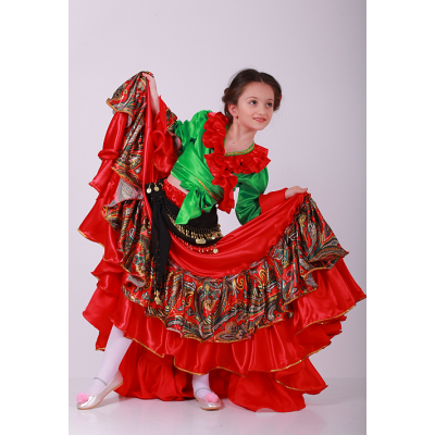 Карнавальный костюм для девочки Цыганка Виктория