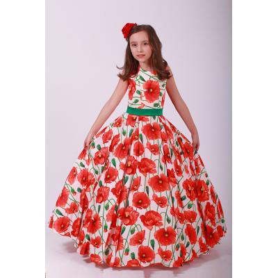 Нарядное платье для девочки Шампань и Маки