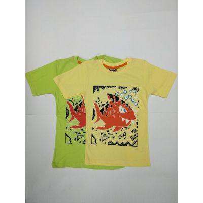 Футболка для мальчика 15037 желтая