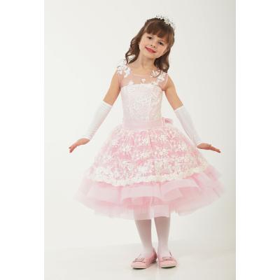 Нарядное бальное платье для девочки 9755 розовый