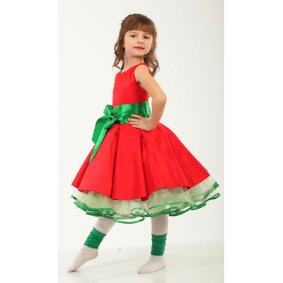 Нарядное платье для девочки Стиляги - 030 Ягода