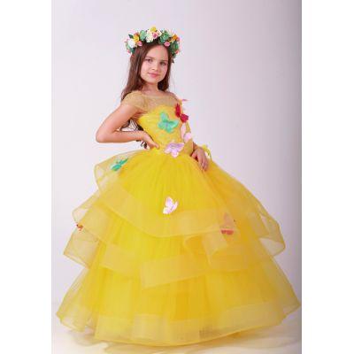 Нарядное платье для девочки 9777 бабочки