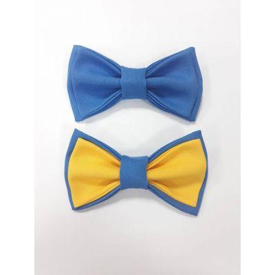 Бабочка для мальчика голубая №15