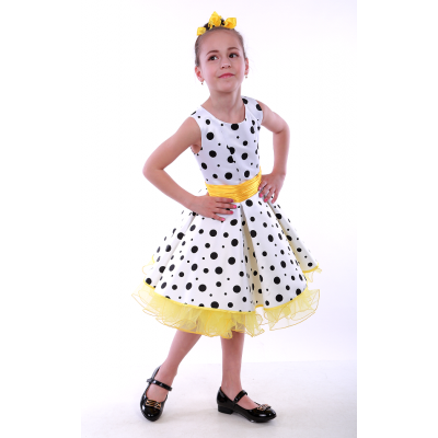 Нарядное платье для девочки Стиляги Оксана желтый