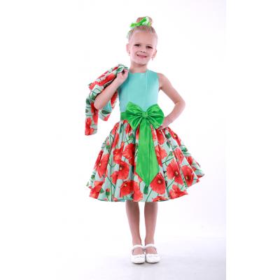 Нарядное платье для девочки Красный Мак