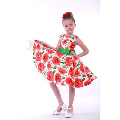 Нарядное платье для девочки Стиляги Цветы