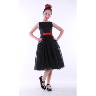 Нарядное платье для девочки 9710 черное