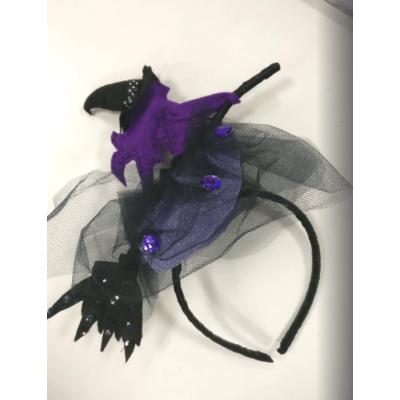 Карнавальный костюм - обруч Ведьма на метле