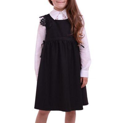 Сарафан школьный для девочки Квитка черный