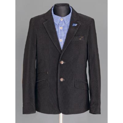 Пиджак школьный для мальчика 419 вельвет черный